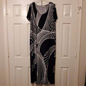 Black & White Print Dress, Size 18/20